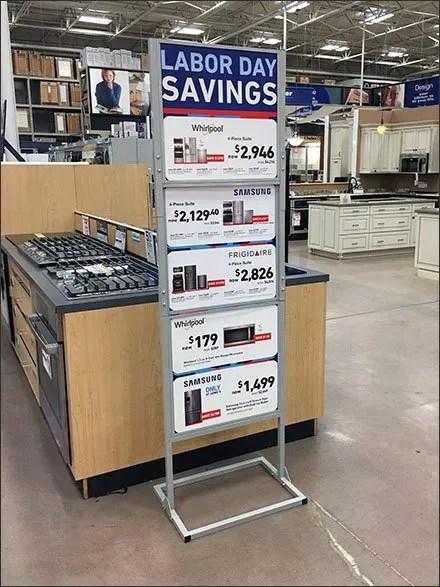 Multi-Brand Labor Day Savings Sign