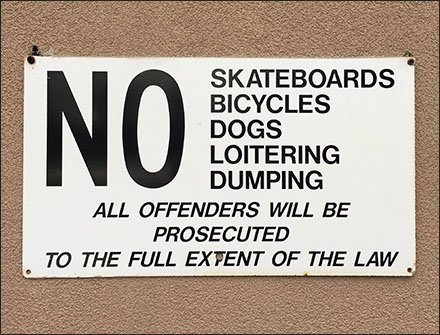 Offenders Will Be Prosecuted Warning