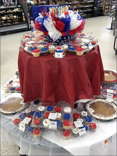 Patriotic Pastry and Baked Goods Island