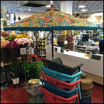 Patio Umbrella In-Store Space Frame