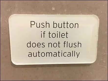 Push Button Toilet Flush Override