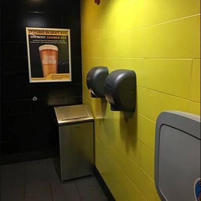 Restroom Beer Advertising At Buffalo Wildwings