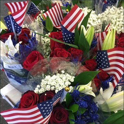 Target Patriotic Bouquet by the Bucket