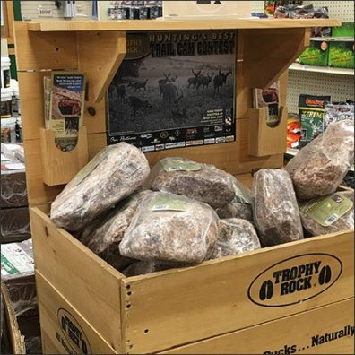 Trophy Rock Salt Lick Wood Bulk Bin Display