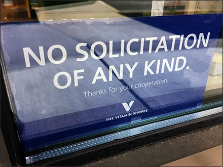 No Solicitation Of Any Kind Thanks