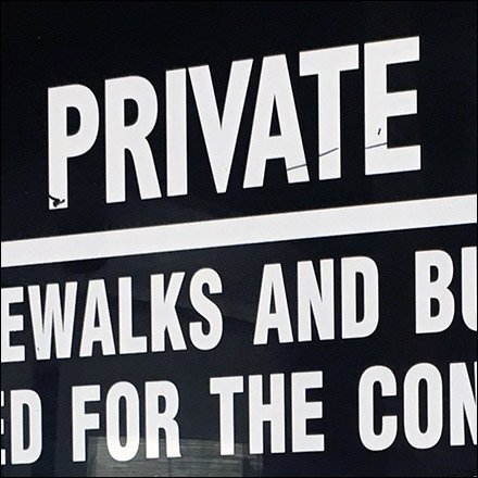 Private Property Notice Lists Banned Activities