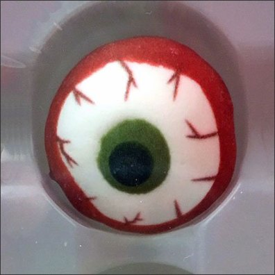 Eerie Merchandising Displays - Eerie Eyeball Halloween Cake Decoration