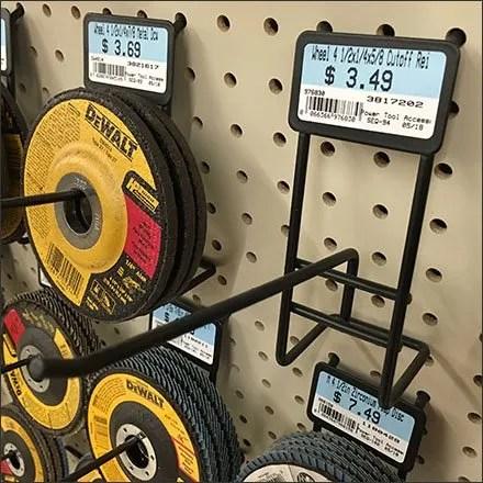 Grinding Wheel Custom Display Hook Design