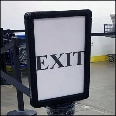 Service Counter Queue Exits Here