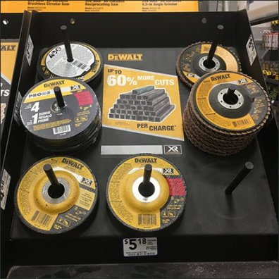 DeWalt Grinding Wheel Simple Peg Hook Display