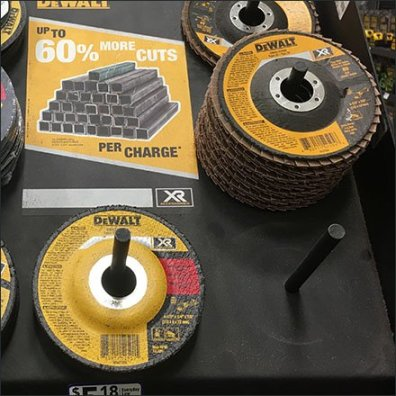 DeWalt Grinding Wheel Simple Peg Hook Display
