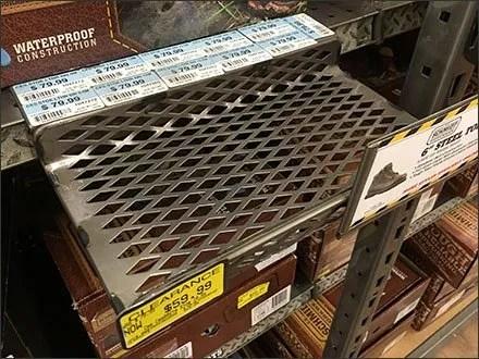 Diamond Perforated Shelf-Edge Shoe Ledge 3