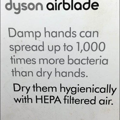 Dyson 12 Second Restroom Hand Dry Record
