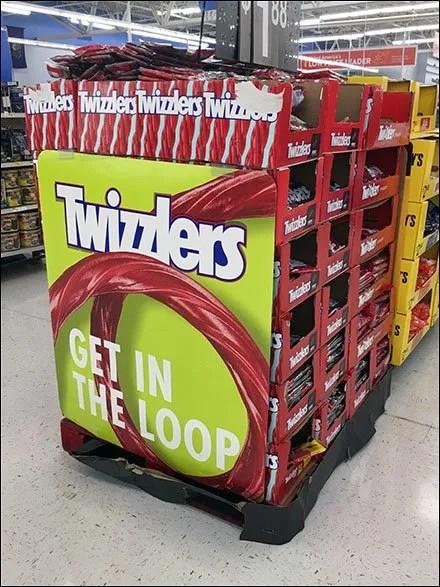 Get In The Loop Twizzlers Display