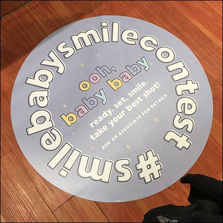 Smile Baby Smile Floor Graphic #Hashtag