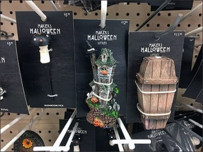 Halloween Miniatures Carded Home Decor