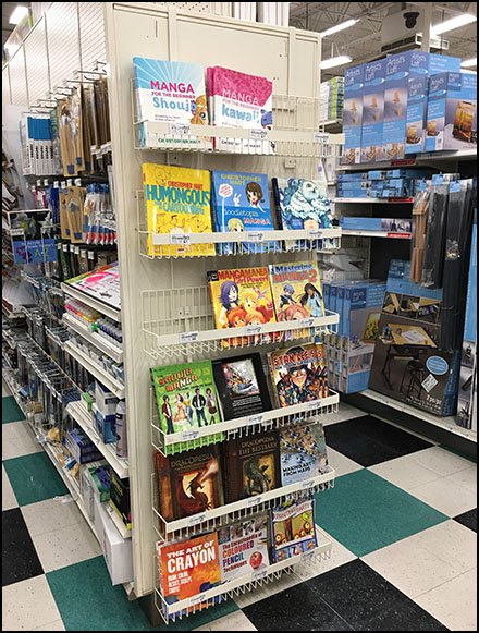 EndCap Hanging Book Rack For Manga Art