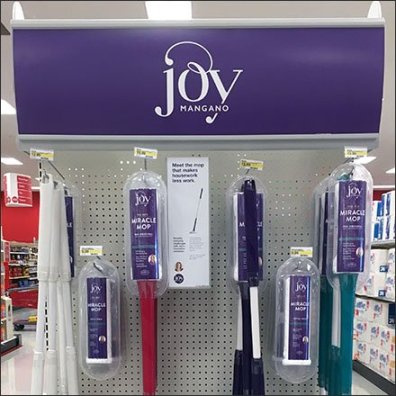 Joy Mangano Miracle Mop Endcap Display
