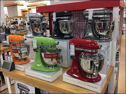 Kohls KitchenAid Colorful Mixer Island