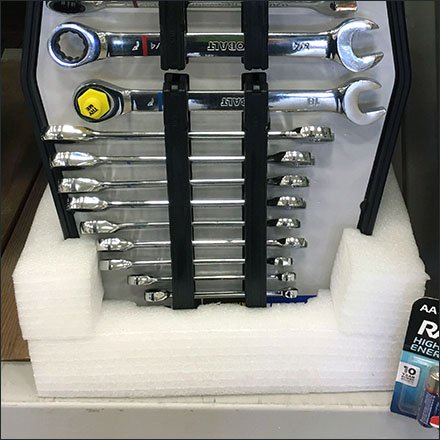 Kobalt Wrench Set Styrofoam Stand
