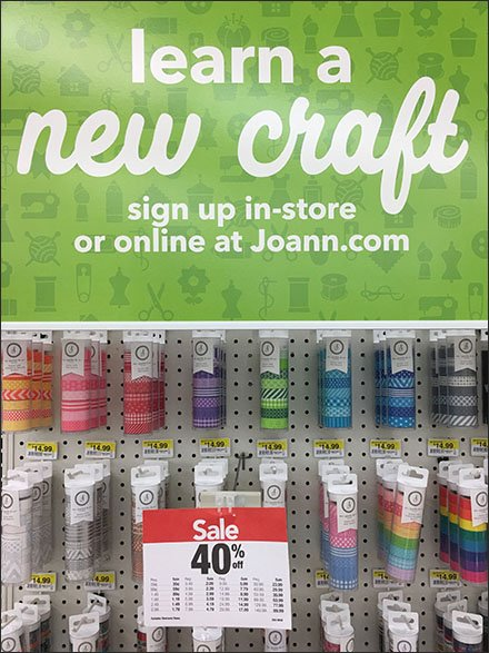 Learn a New Craft Washi Tape Endcap Display