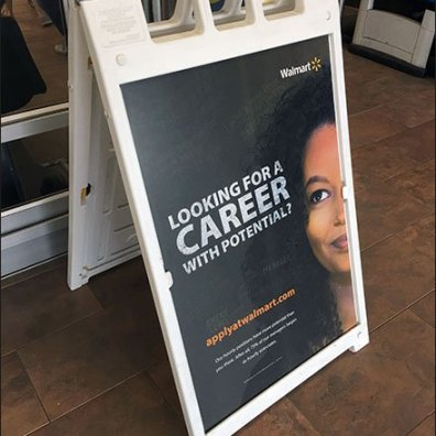 Looking for Career Potential Hiring Sign