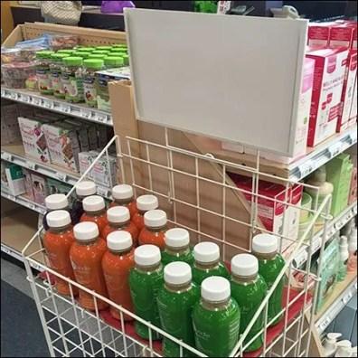 Mitered Grid Bulk Bin For Beverages