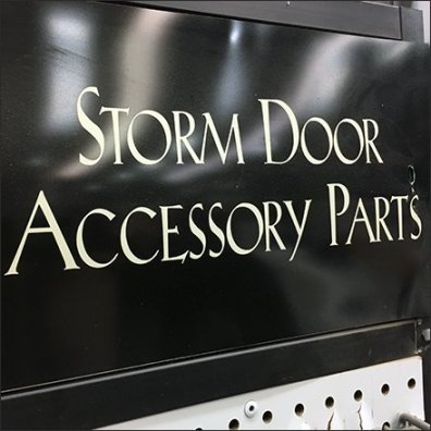 Storm Door Accessory Endcap Display