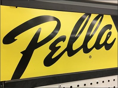 Pella Storm Door Accessory Endcap Display Logo