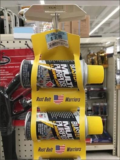 Rust Belt Warriors Spray Can Strip Merchandiser 3