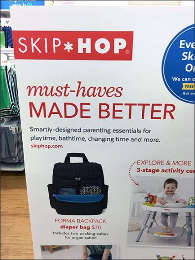 Skip-Hop Must-Haves Freestanding Sign Board