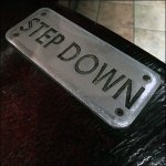 Step Down Table-Top Booth Warning Sign