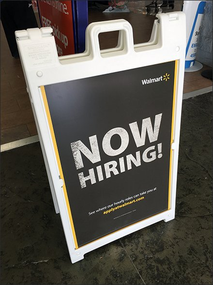 Now Hiring Sign Doesn't Mincing Words