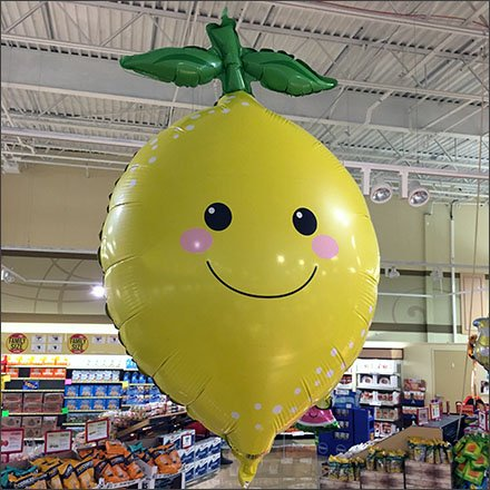 Lemon and Lime Merchandising - Weis Lemon Inflatable in Produce