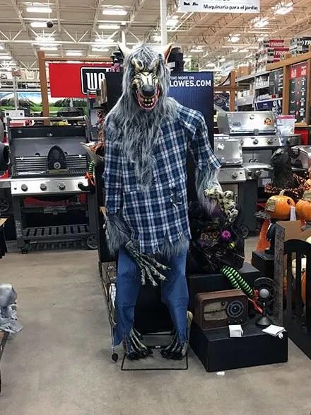 Werewolf Stalks Center Store Retail