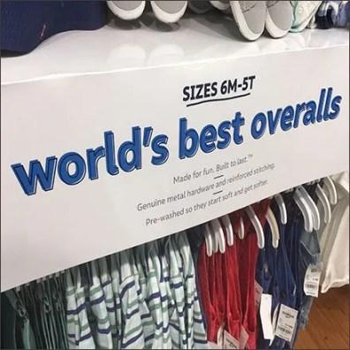 Osh Kosh World's Best Overalls Shelf Overlay