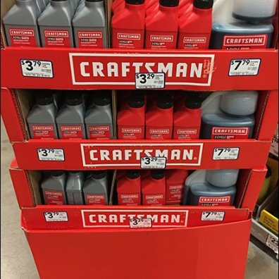 2-Cycle Engine Oil Display Craftsman Branding