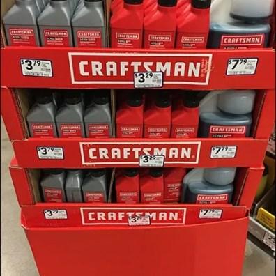 2-Cycle Engine Oil Display Craftsman Branding