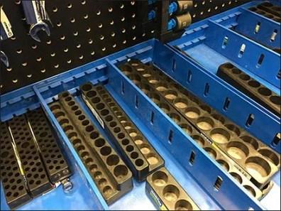 Divided Bulk Bin Shelf-Top Tool Display