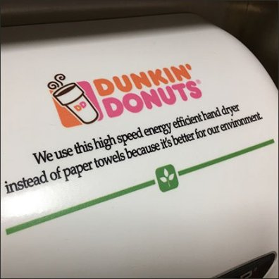 Dunkin' Donuts Branded Hand Dryer