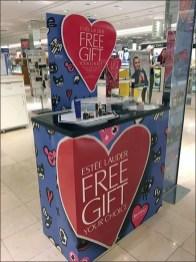 Estee Lauder Free Gift Floorstand Display