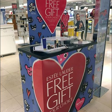 Estee Lauder Free Gift Floorstand Display