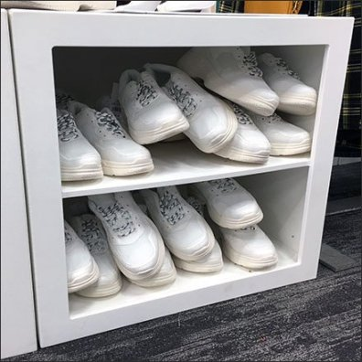 Ground-Level Shoe Sales Merchandising