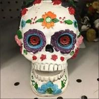Halloween Dangling Spider on Flip Front Hook Girl Skull