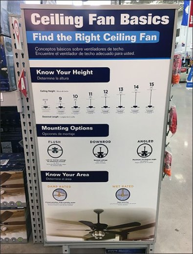How To Choose A Ceiling Fan Instructions