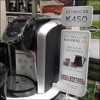 Keurig Coffee Sidesaddle Sign Feature