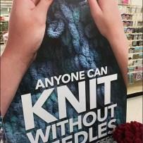 Knit Without Needles Yarn Bulk Bin Display