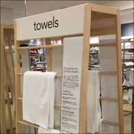 Macys Freestanding Towel Trapezoid Display Rack Feature1