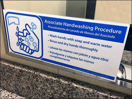 Multilingual Hand Wash Procedure With Pictogram