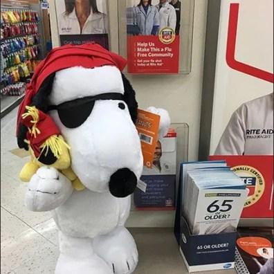 Snoopy Halloween Greeter Visual Merchandising